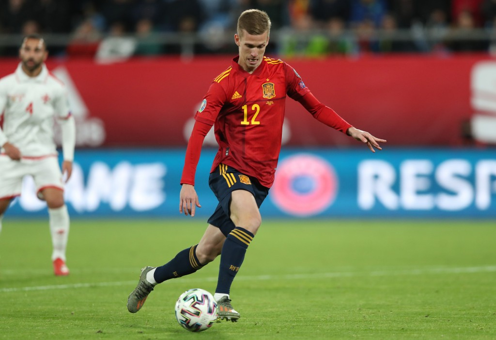Dani Olmo could make his first start for Spain. (Photo by Angel Martinez/Getty Images)