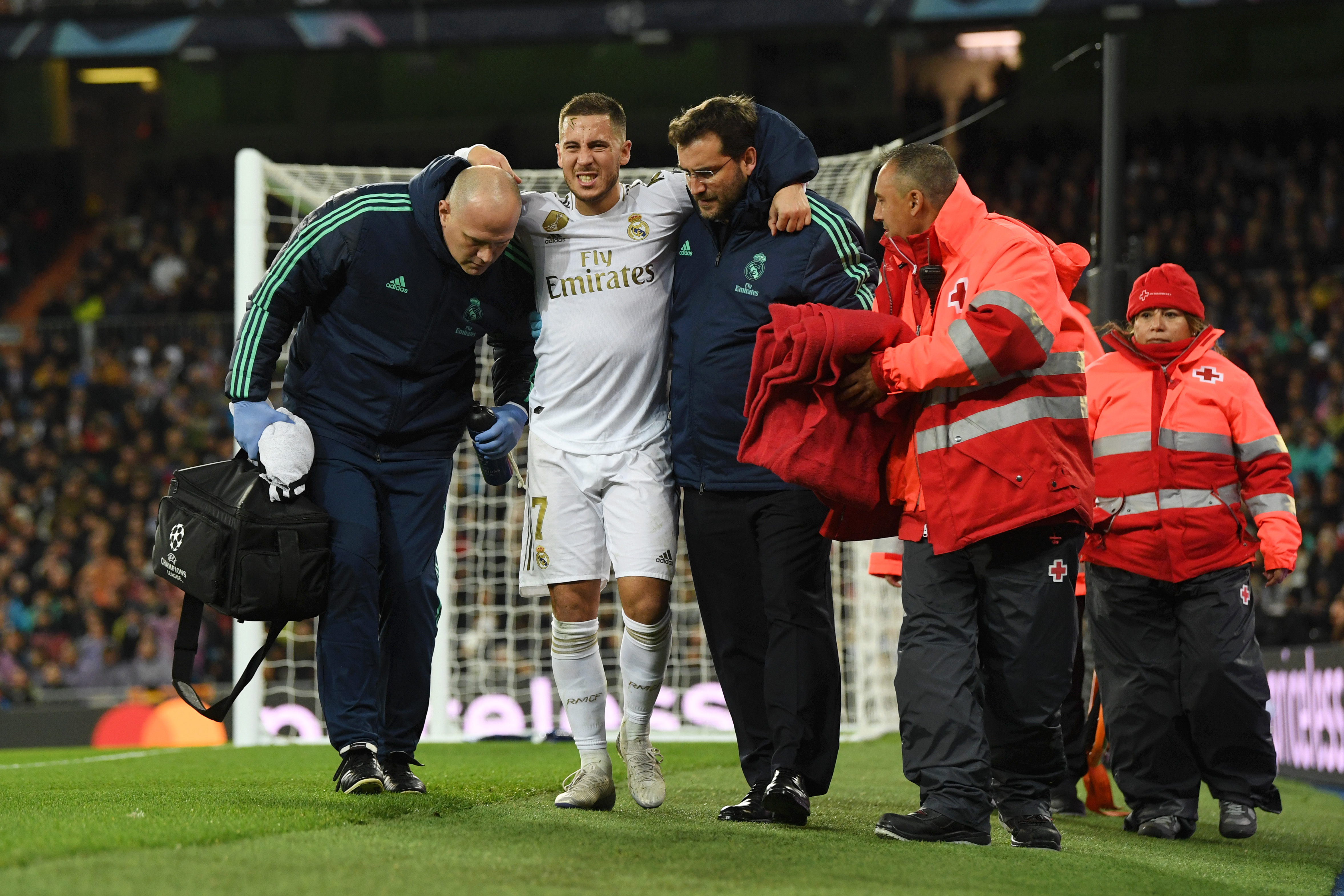 Hazard has spent more time on the sidelines than on the pitch at Madrid (Photo by David Ramos/Getty Images)