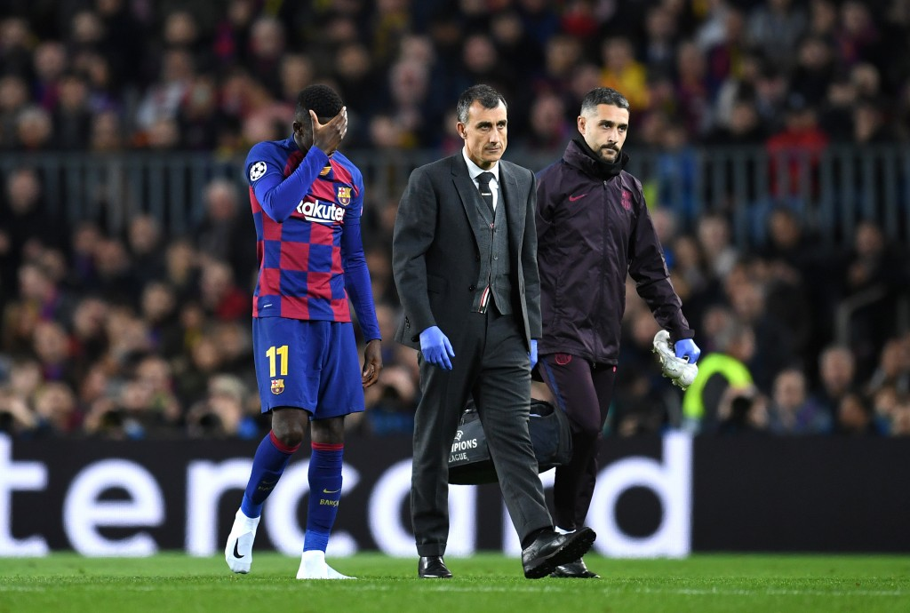 Dembele's night ended in heartbreak. (Photo by David Ramos/Getty Images)