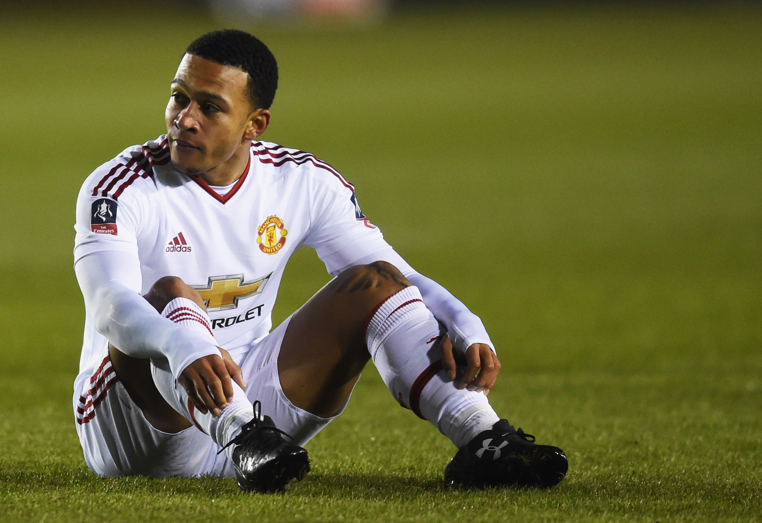 Memphis Depay had his struggles at Manchester United. (Photo by Michael Regan/Getty Images)