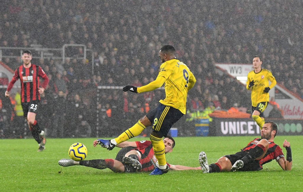 Lacazette struggled (Photo by Justin Setterfield/Getty Images)
