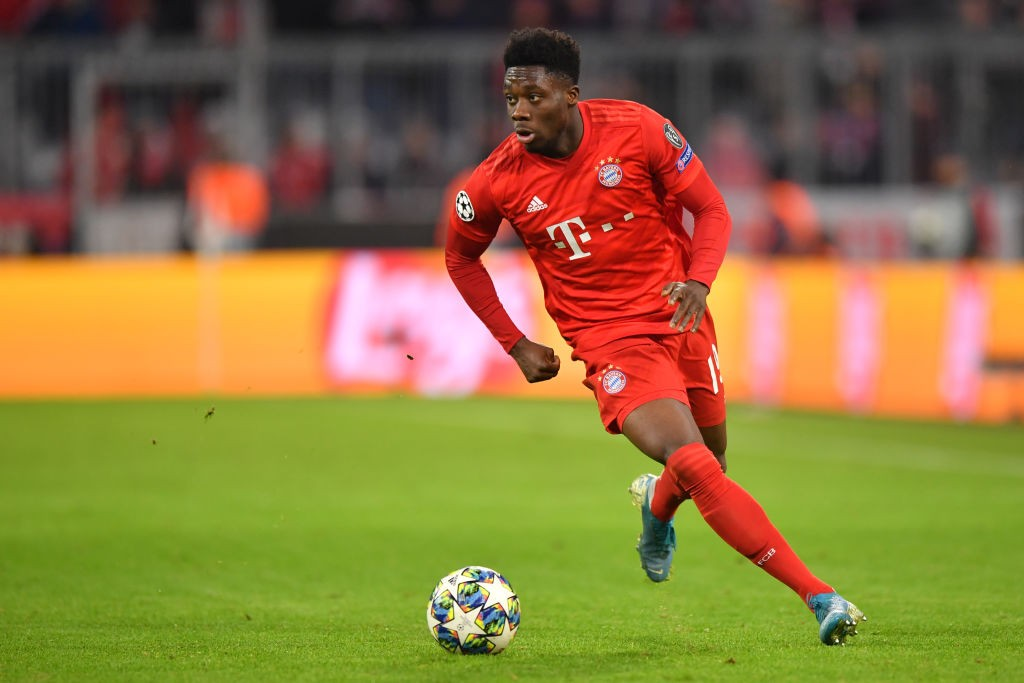 The 19-year old Canadian has been a sensation for Bayern at left back. (Photo by Sebastian Widmann/Bongarts/Getty Images)