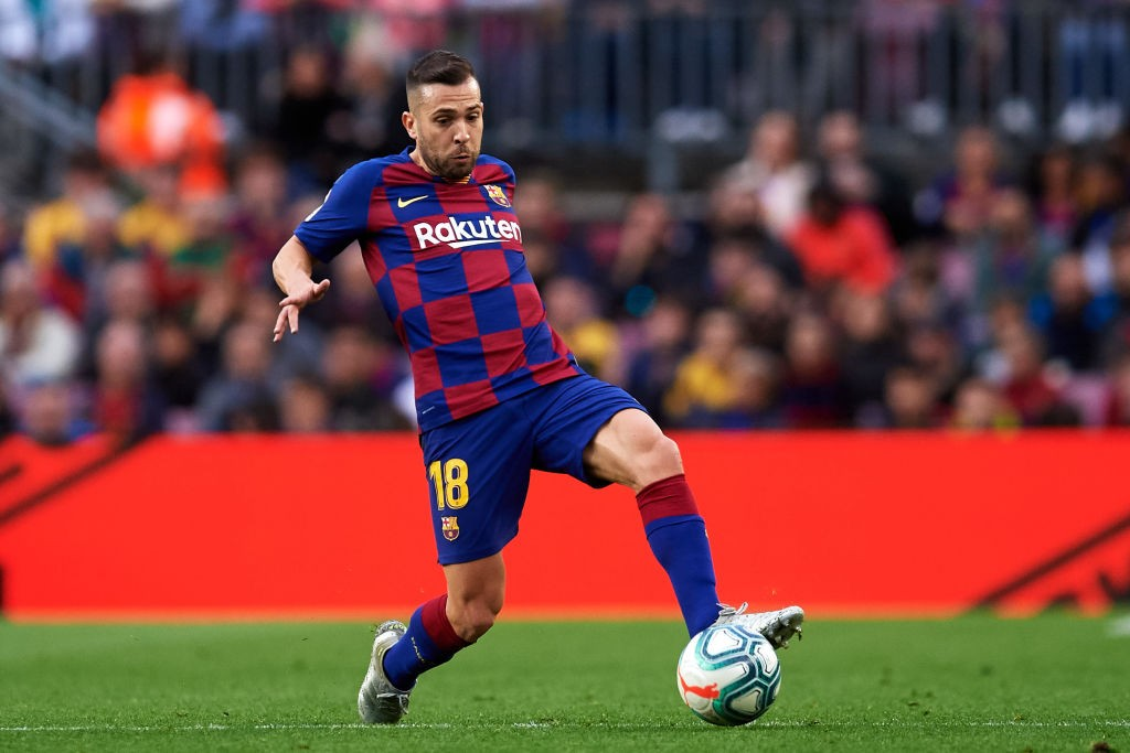 Jordi Alba put up another great performance for Barca. (Photo by Alex Caparros/Getty Images)
