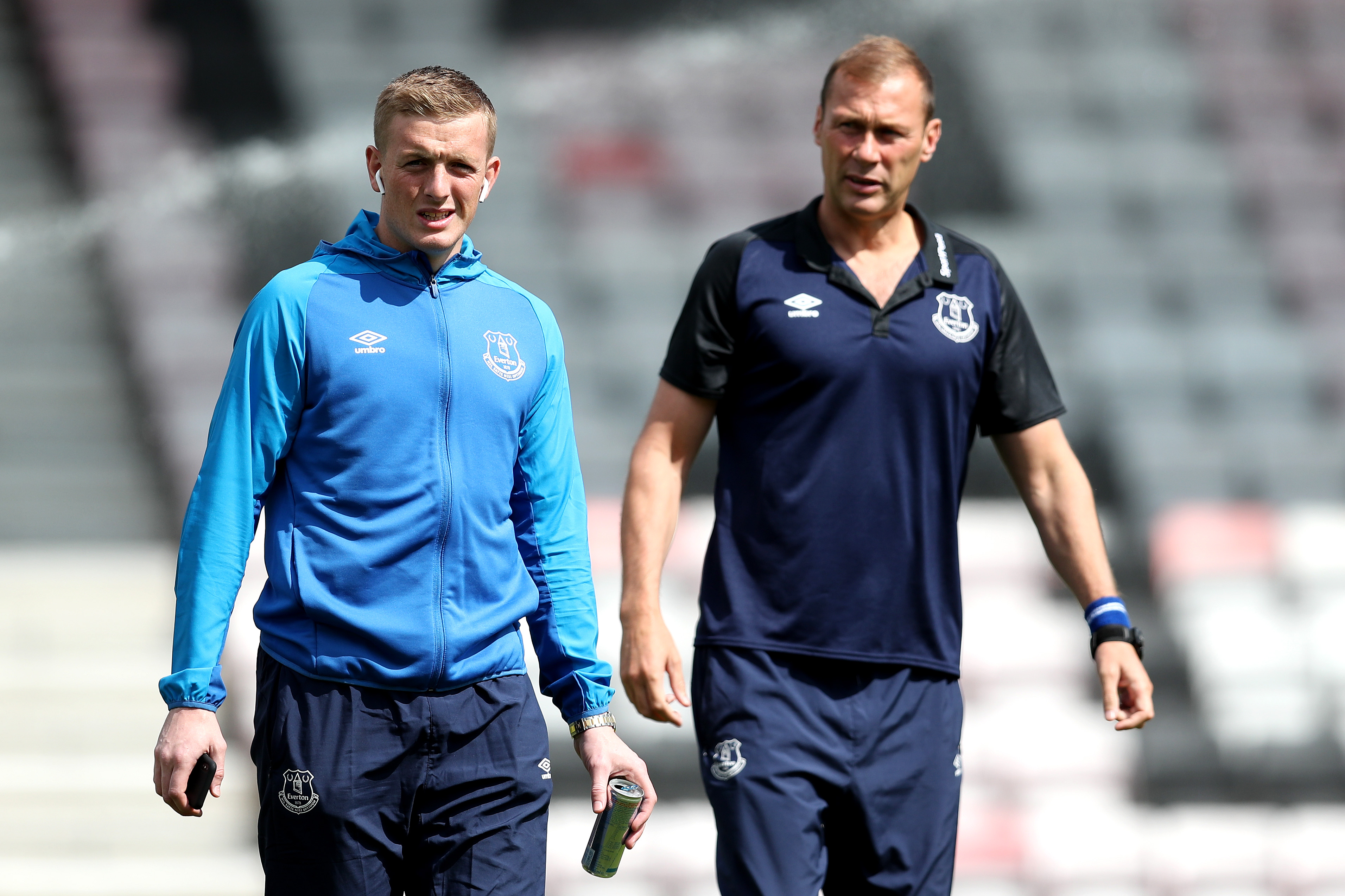 Duncan Ferguson (R) will take charge of Everton against Chelsea (Photo by Dan Istitene/Getty Images)