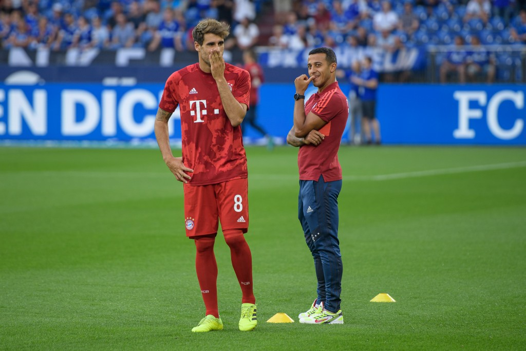Javi Martinez is available while Thiago Alcantara misses out due to suspension. (Photo by Jörg Schüler/Bongarts/Getty Images)