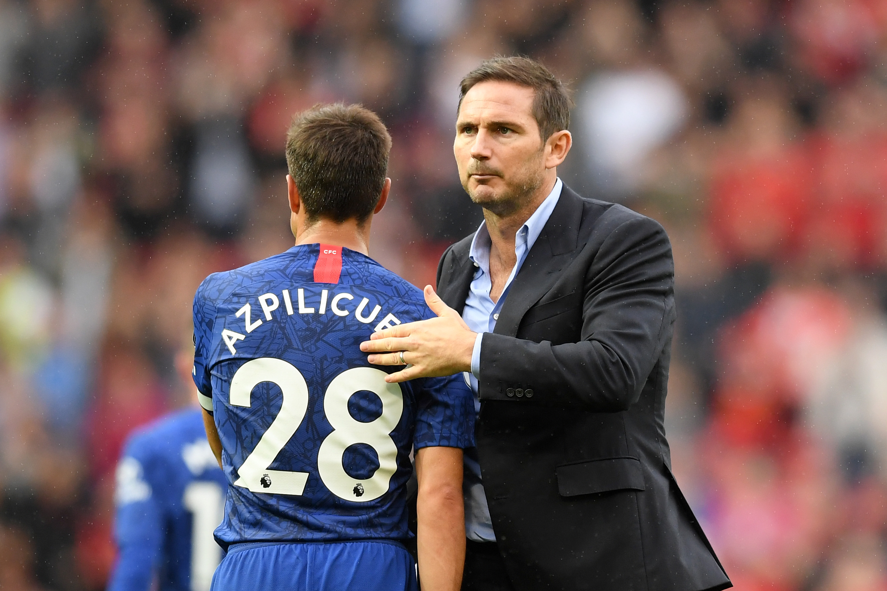 Azpilicueta had a poor outing before suffering a hamstring injury (Photo by Michael Regan/Getty Images)