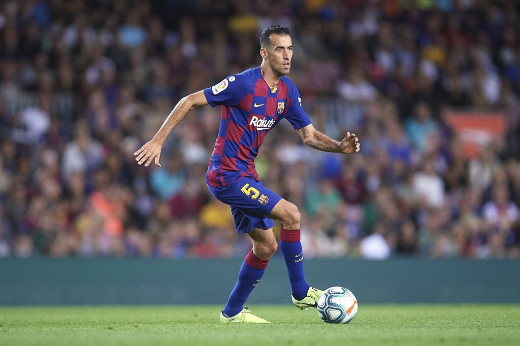 Sergio Busquets is available again after serving his suspension last time out. (Photo by Aitor Alcalde/Getty Images)