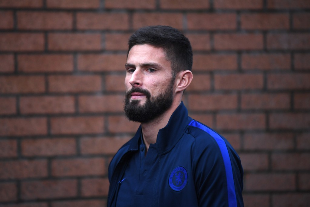 BURNLEY, ENGLAND - OCTOBER 26: Olivier Giroud of Chelsea arrives at the stadium prior to the Premier League match between Burnley FC and Chelsea FC at Turf Moor on October 26, 2019 in Burnley, United Kingdom. (Photo by Laurence Griffiths/Getty Images)