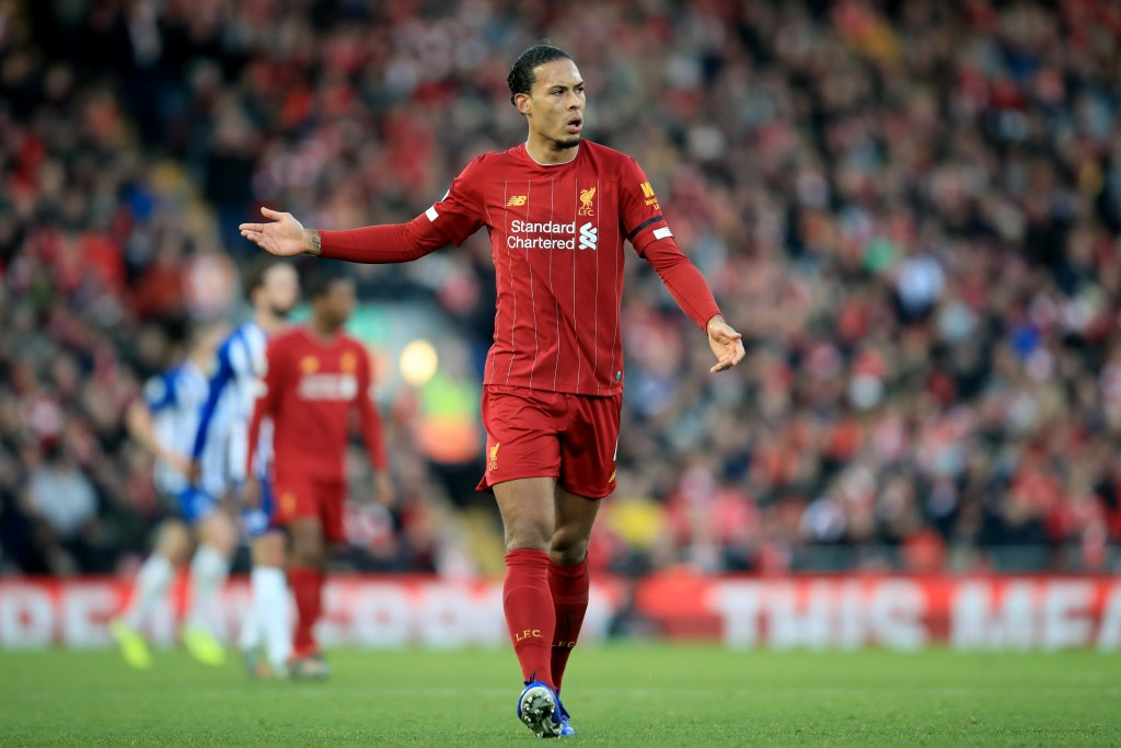 Virgil van Dijk is set for his 100th outing in Liverpool colours. (Photo by Marc Atkins/Getty Images)