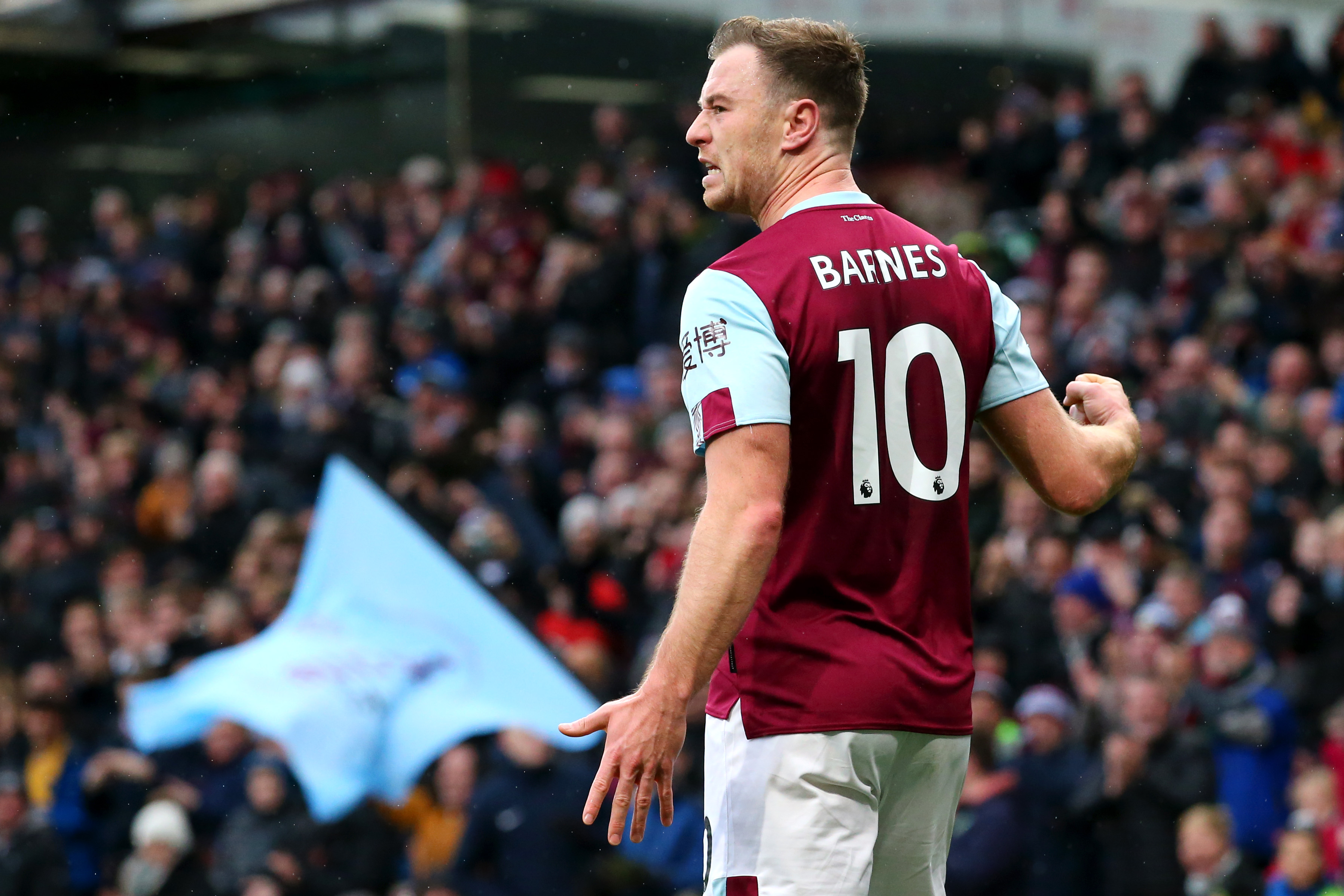 Ashley Barnes is set to return after being rested against Everton. (Photo by Alex Livesey/Getty Images)