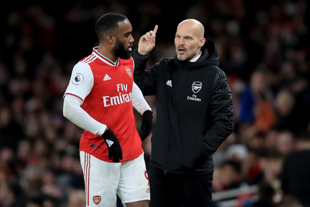 Lacazette's goal could not save Freddie Ljungberg's men. (Photo by Marc Atkins/Getty Images)