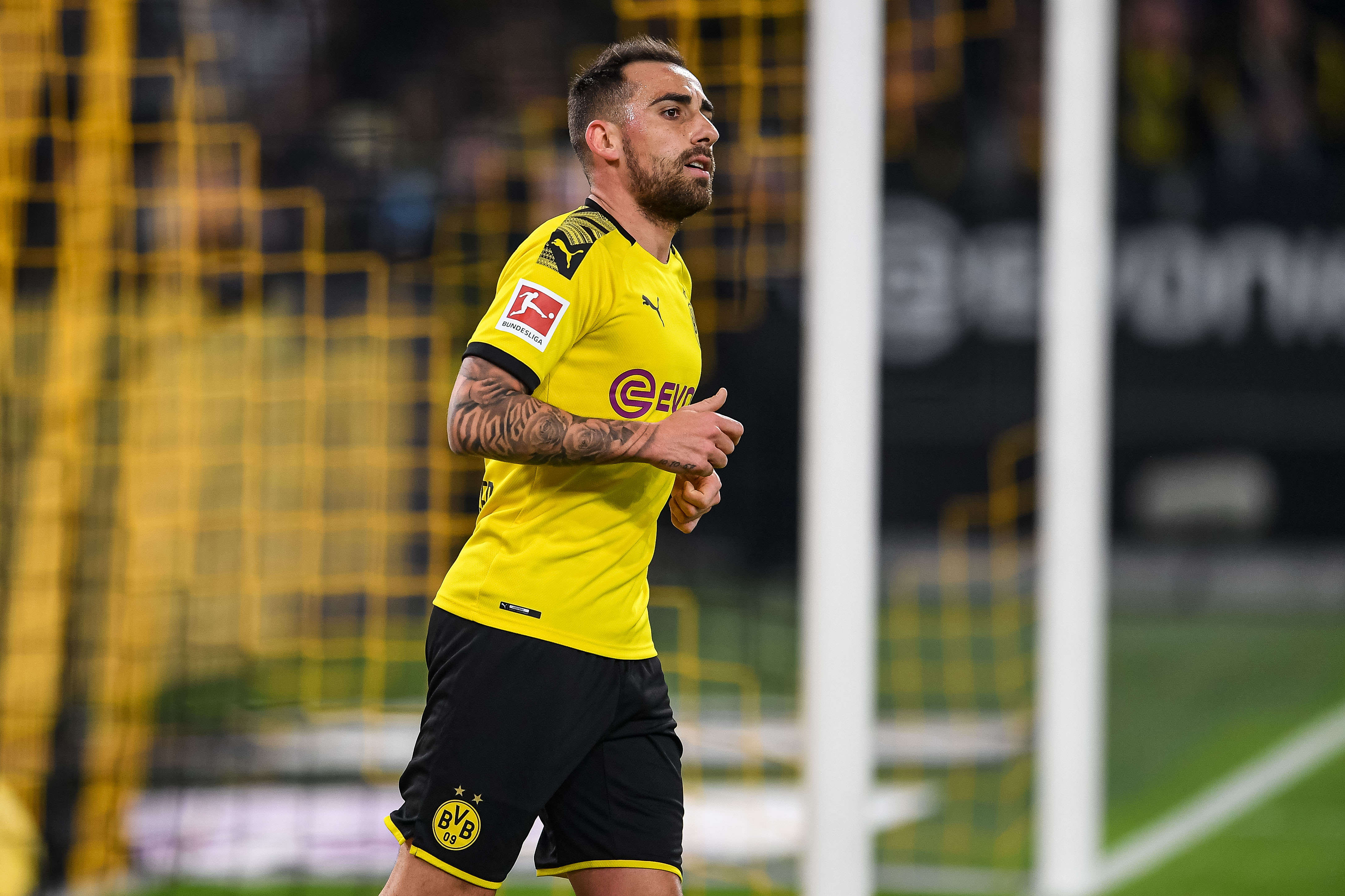 Can Paco Alcacer lead Dortmund to a win on Saturday? (Photo by Jörg Schüler/Bongarts/Getty Images)