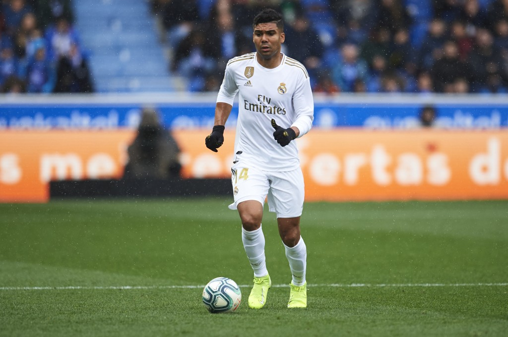 Real Madrid will be without the suspended Casemiro. (Photo by Juan Manuel Serrano Arce/Getty Images)