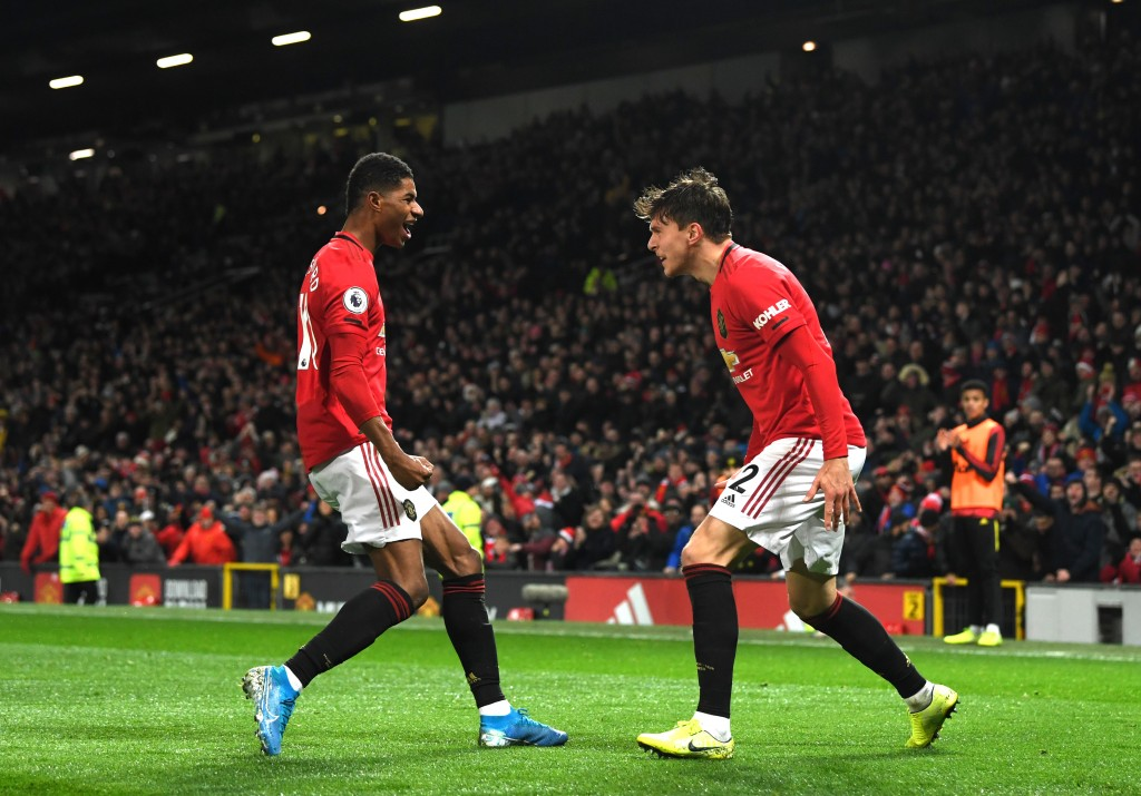 Marcus Rashford and Victor Lindelof are doubts to feature for Manchester United against Wolves. (Photo by Stu Forster/Getty Images)