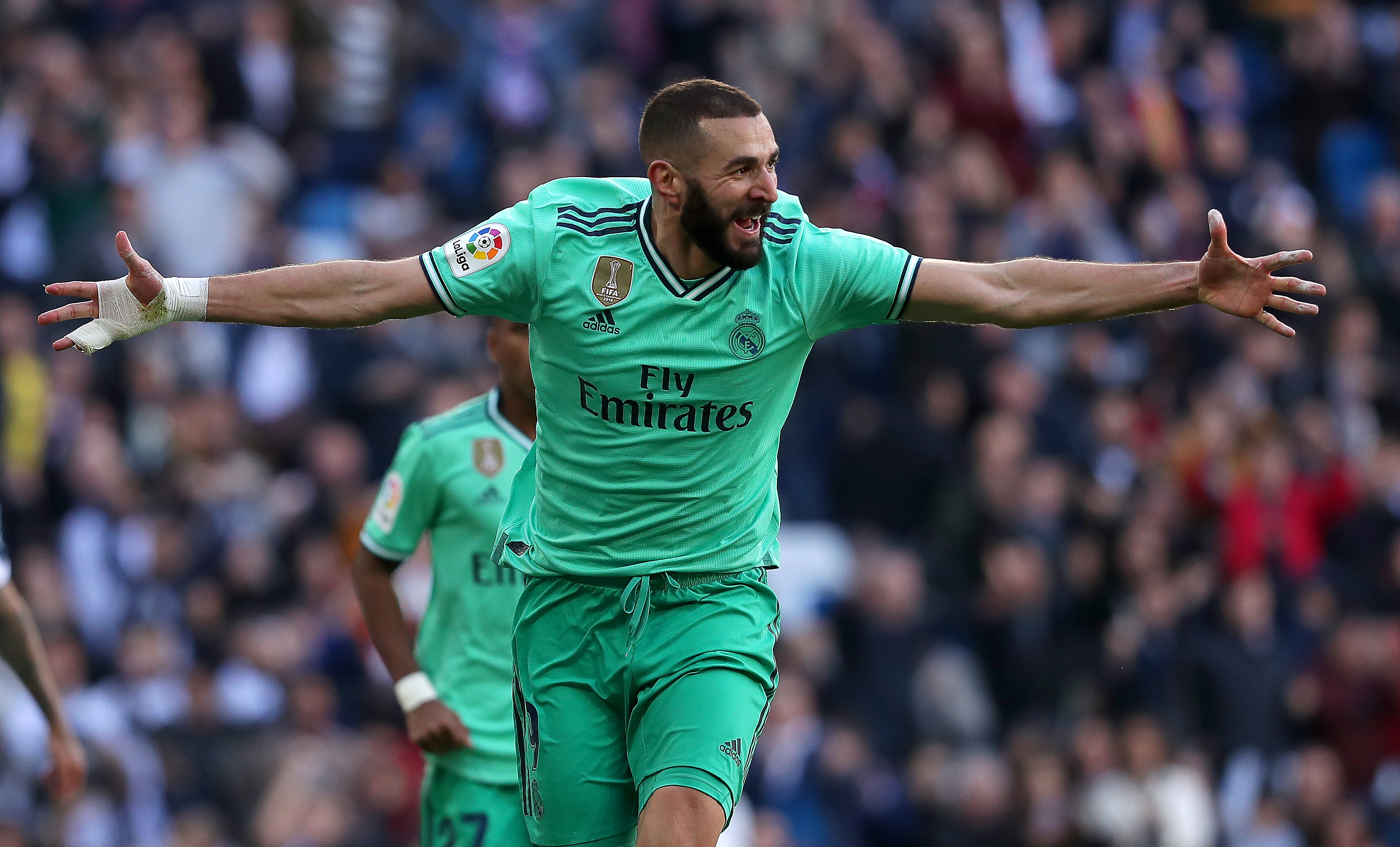 Real Madrid will look towards Karim Benzema for inspiration once again. (Photo by Gonzalo Arroyo Moreno/Getty Images)