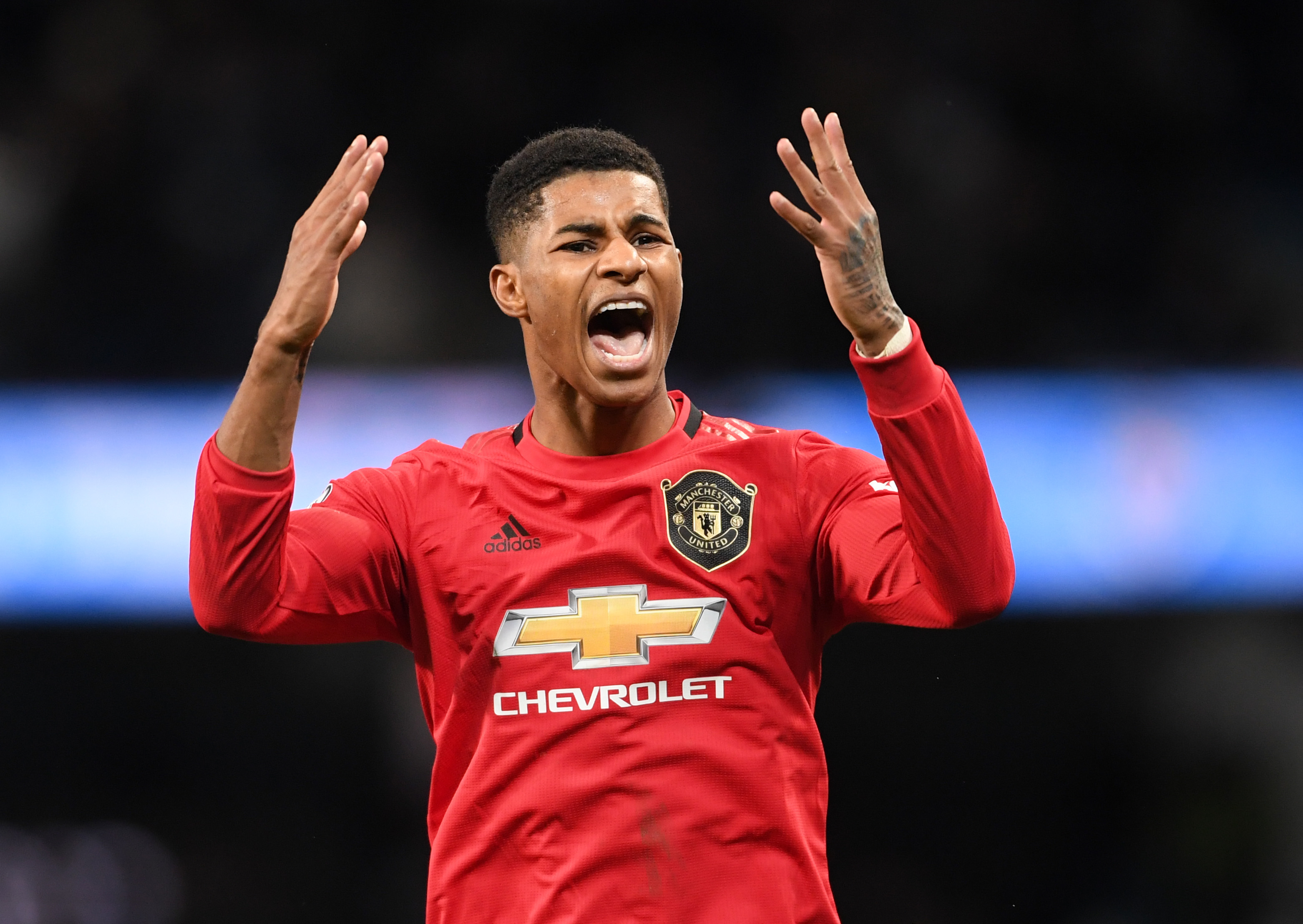 Drawing comparisons with Cristiano Ronaldo, but will Rashford be the one to replace Messi at Barcelona? (Photo by Laurence Griffiths/Getty Images)