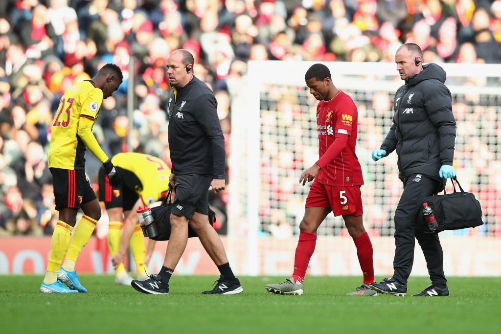 A concerning image for Liverpool fans. (Photo by Clive Brunskill/Getty Images)