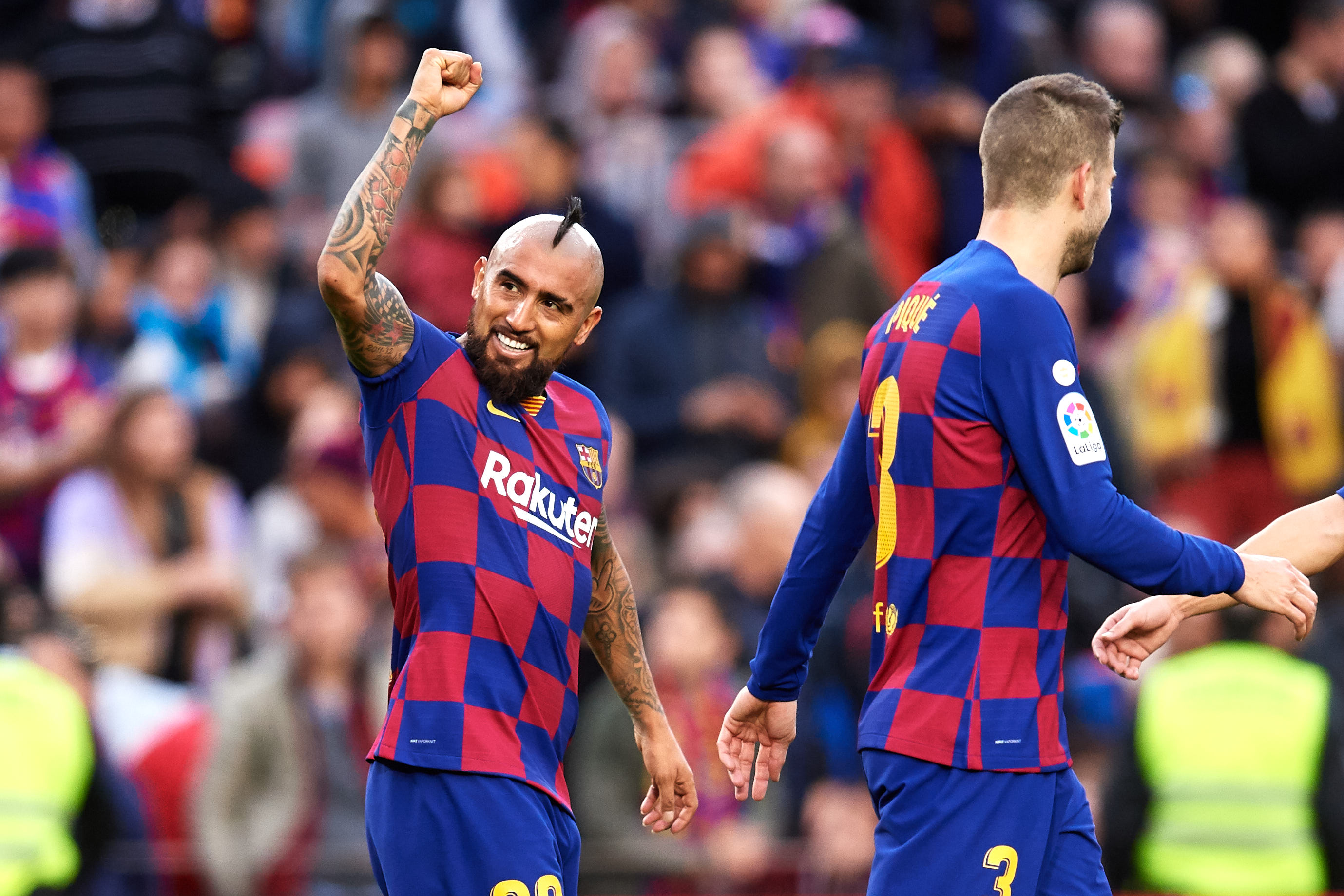Can Vidal add to his goal tally this weekend? (Photo by Alex Caparros/Getty Images)