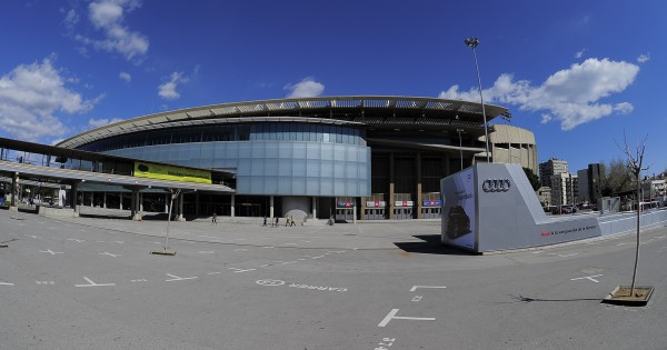 Exterior view taken on March 14, 2013 of the Camp Nou stadium in Barcelona.  AFP PHOTO / JOSEP LAGO        (Photo credit should read JOSEP LAGO/AFP via Getty Images)