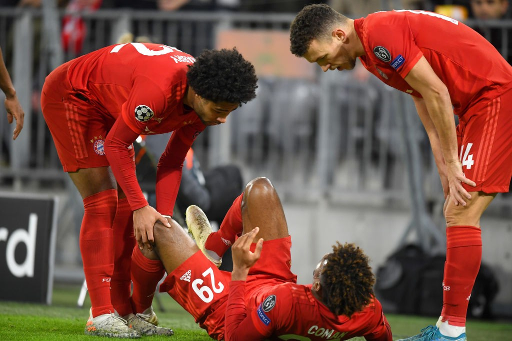 Kingsley Coman has had his struggle with injuries. (Photo by Michael Regan/Getty Images)