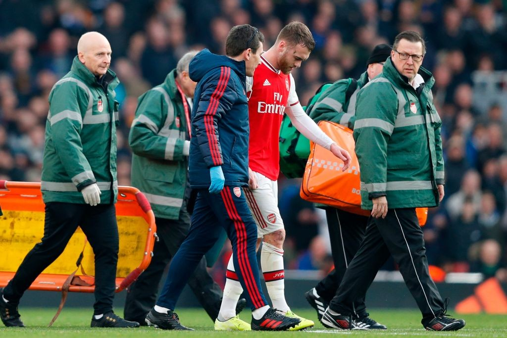 Calum Chambers is out with a knee injury (Photo by ADRIAN DENNIS/AFP via Getty Images)