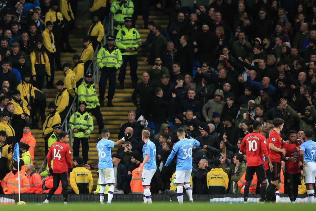 The last Manchester Derby of 2019 ended in disappointment for Man City. (Photo by Lindsey Parnaby / AFP)