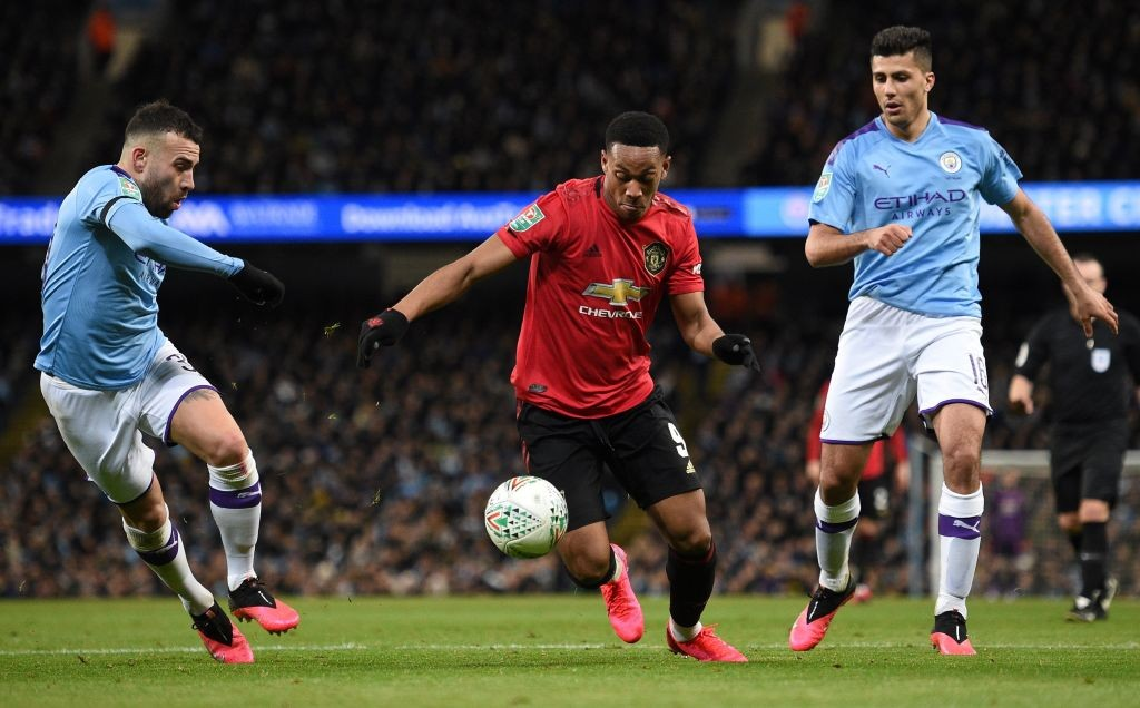 Martial struggled (Photo by OLI SCARFF/AFP via Getty Images)