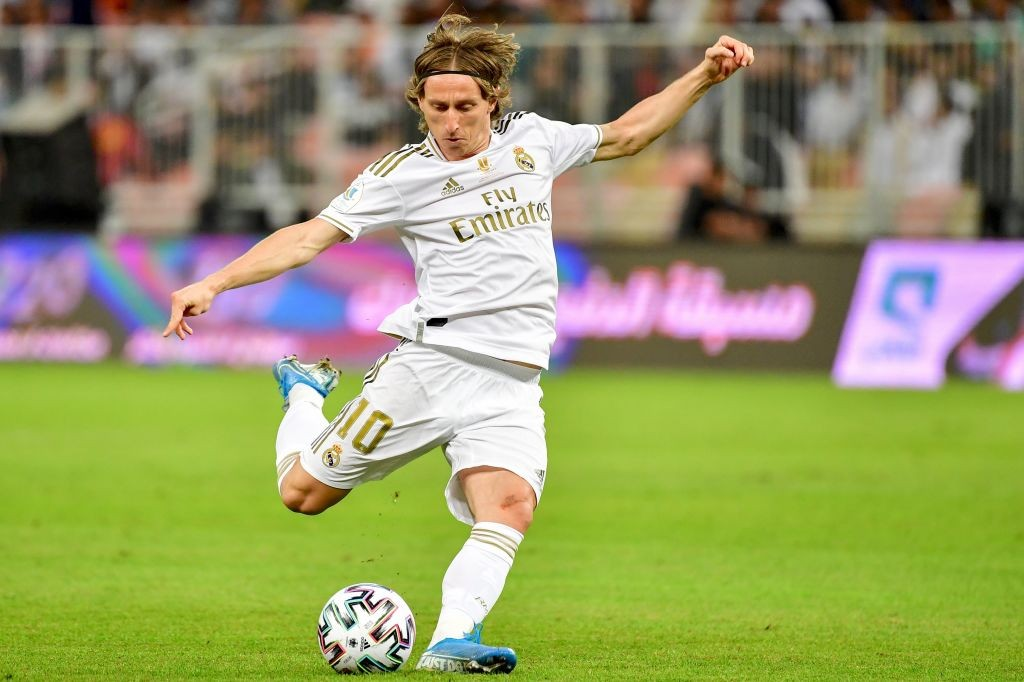 Age is just a number for Modric. (Photo by Giuseppe CACACE / AFP) (Photo by GIUSEPPE CACACE/AFP via Getty Images)