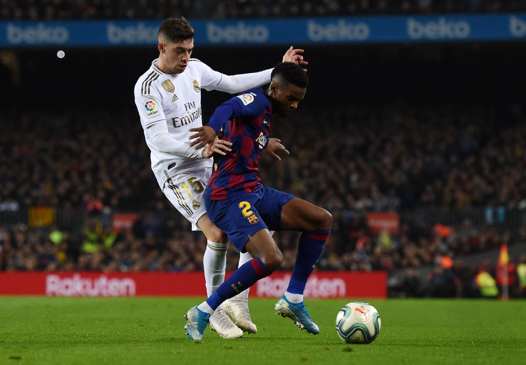 Can Tottenham lure Semedo away from Camp Nou? (Photo by Alex Caparros/Getty Images)