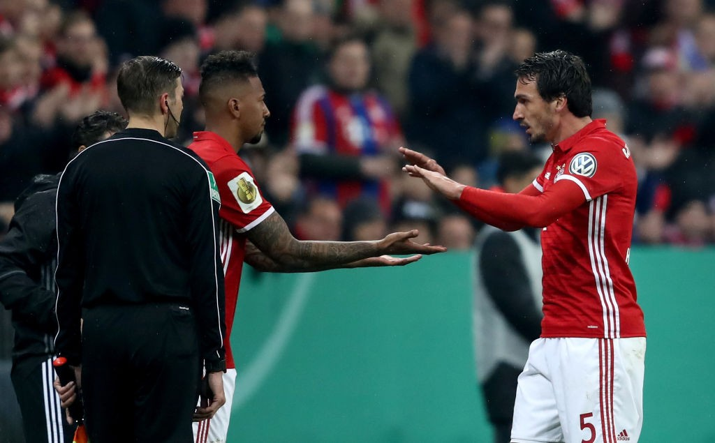 Boateng and Hummels shared a great understanding for Bayern at the heart of the defence. (Photo by Alexander Hassenstein/Bongarts/Getty Images)