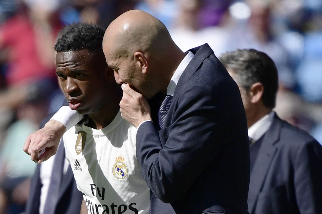 Vinicius Jr. will hope to impress Zinedine Zidane. (Photo by Javier Soriano/AFP via Getty Images)