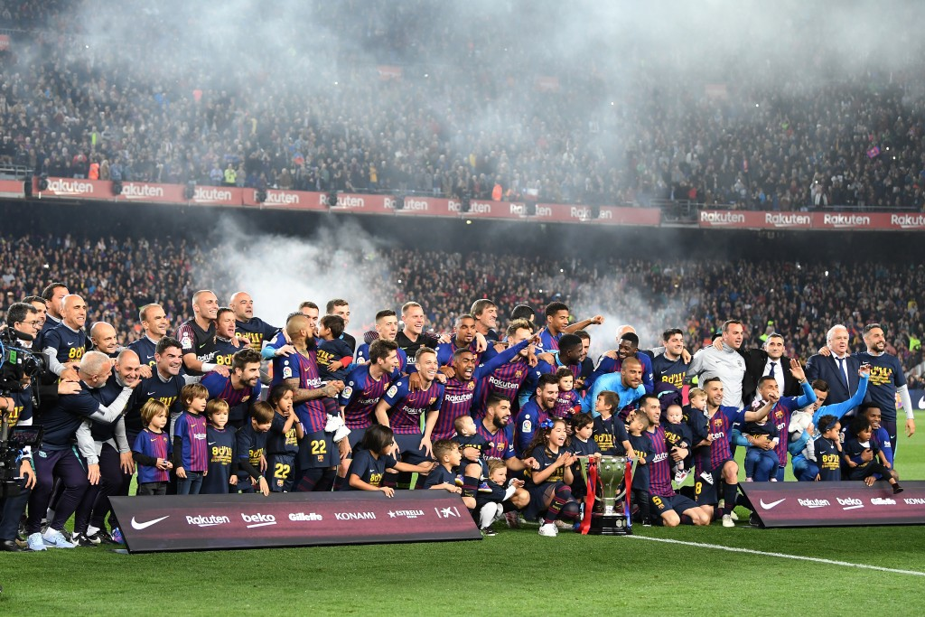 Another year, another La Liga triumph. (Photo by David Ramos/Getty Images)