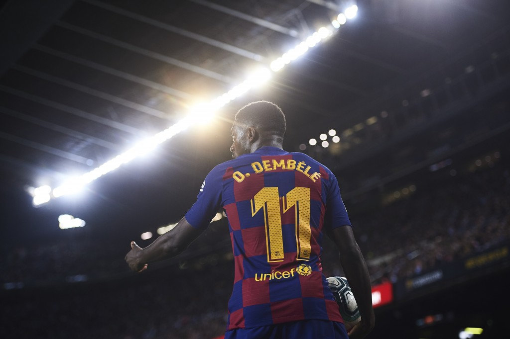 Could Barcelona soon be seeing the back of Ousmane Dembele? (Photo by Aitor Alcalde/Getty Images)