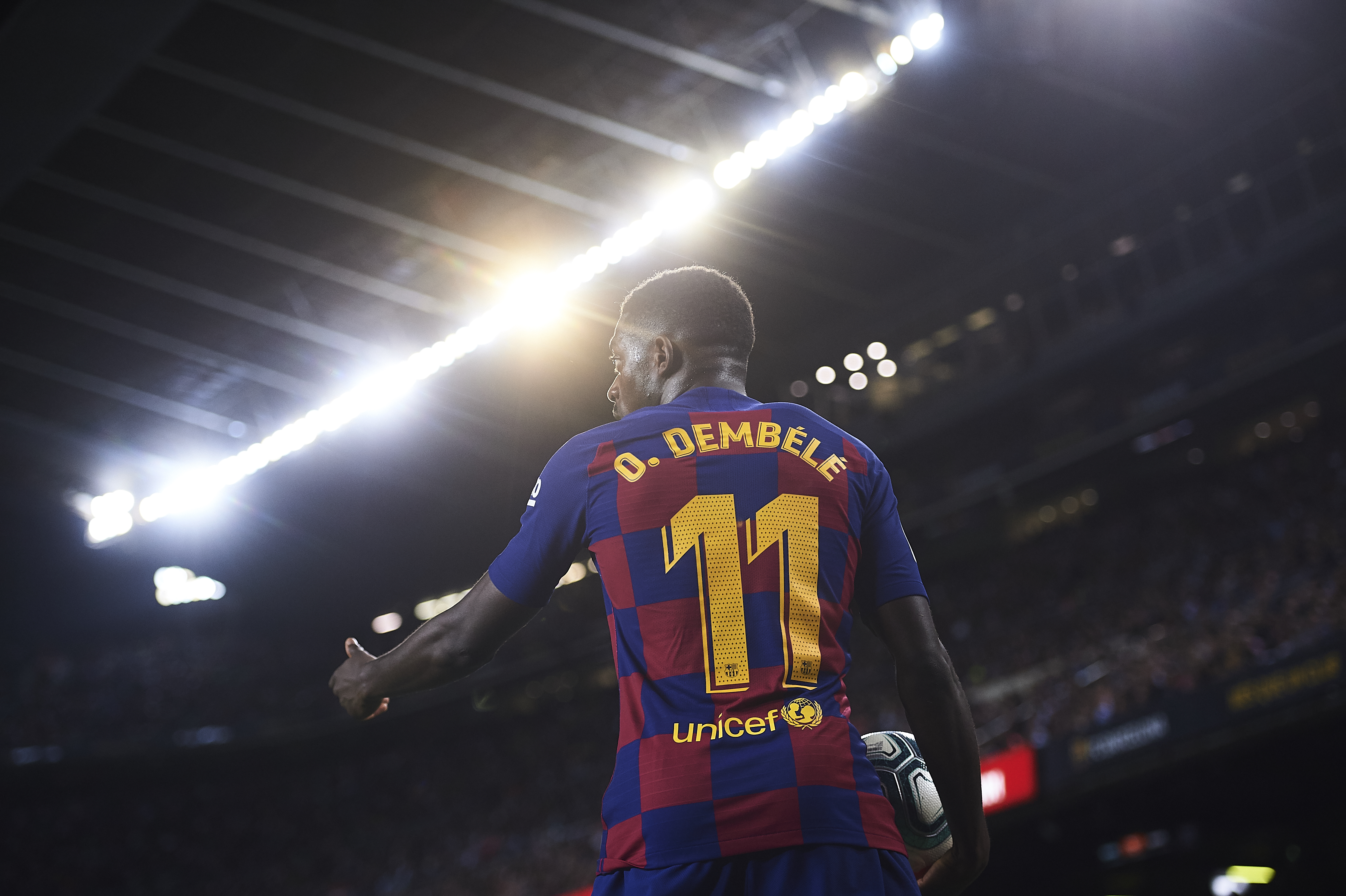 What does the future hold for Dembele? (Photo by Aitor Alcalde/Getty Images)