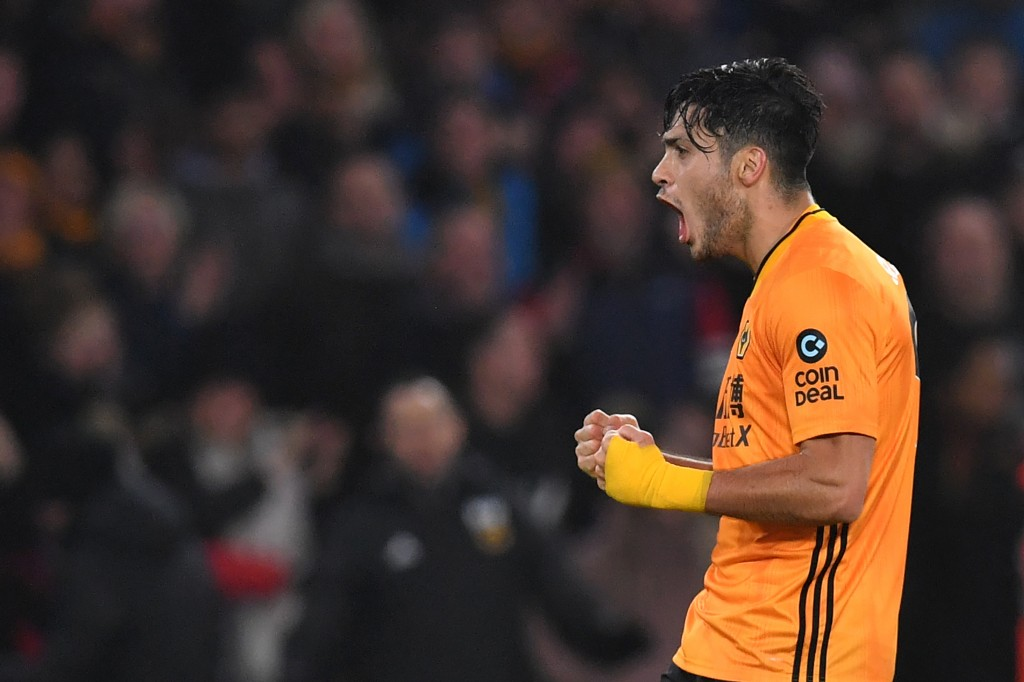 Will Jimenez celebrate a future move to Manchester United? (Photo by Paul Ellis/AFP via Getty Images)