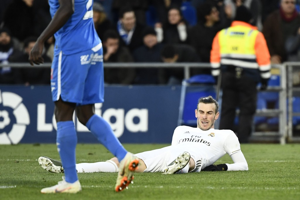 Bale was persona non grata at Real Madrid. Will he be left flat on his back at Tottenham as well? (Photo by Oscar del Pozo/AFP via Getty Images)