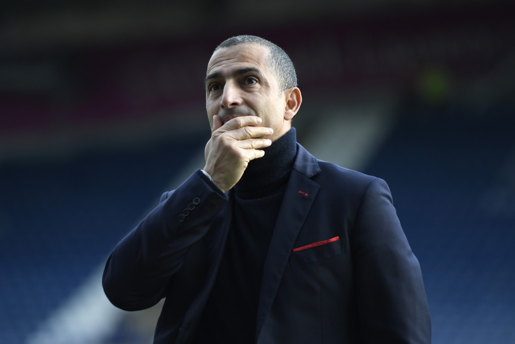 HUDDERSFIELD, ENGLAND - DECEMBER 21: Sabri Lamouchi, manager of Nottingham Forest reacts ahead of the Sky Bet Championship match between Huddersfield Town and Nottingham Forest at John Smith's Stadium on December 21, 2019 in Huddersfield, England. (Photo by George Wood/Getty Images)