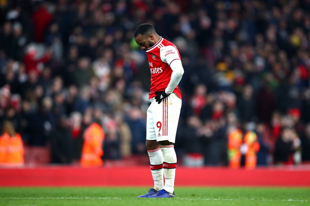 The going has been tough for Lacazette this season. (Photo by Julian Finney/Getty Images)