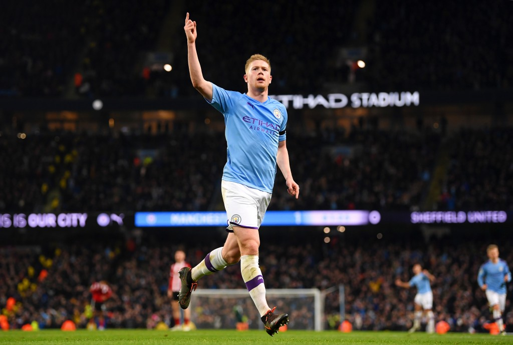 De Bruyne has been flying high for some time now. (Photo by Michael Regan/Getty Images)