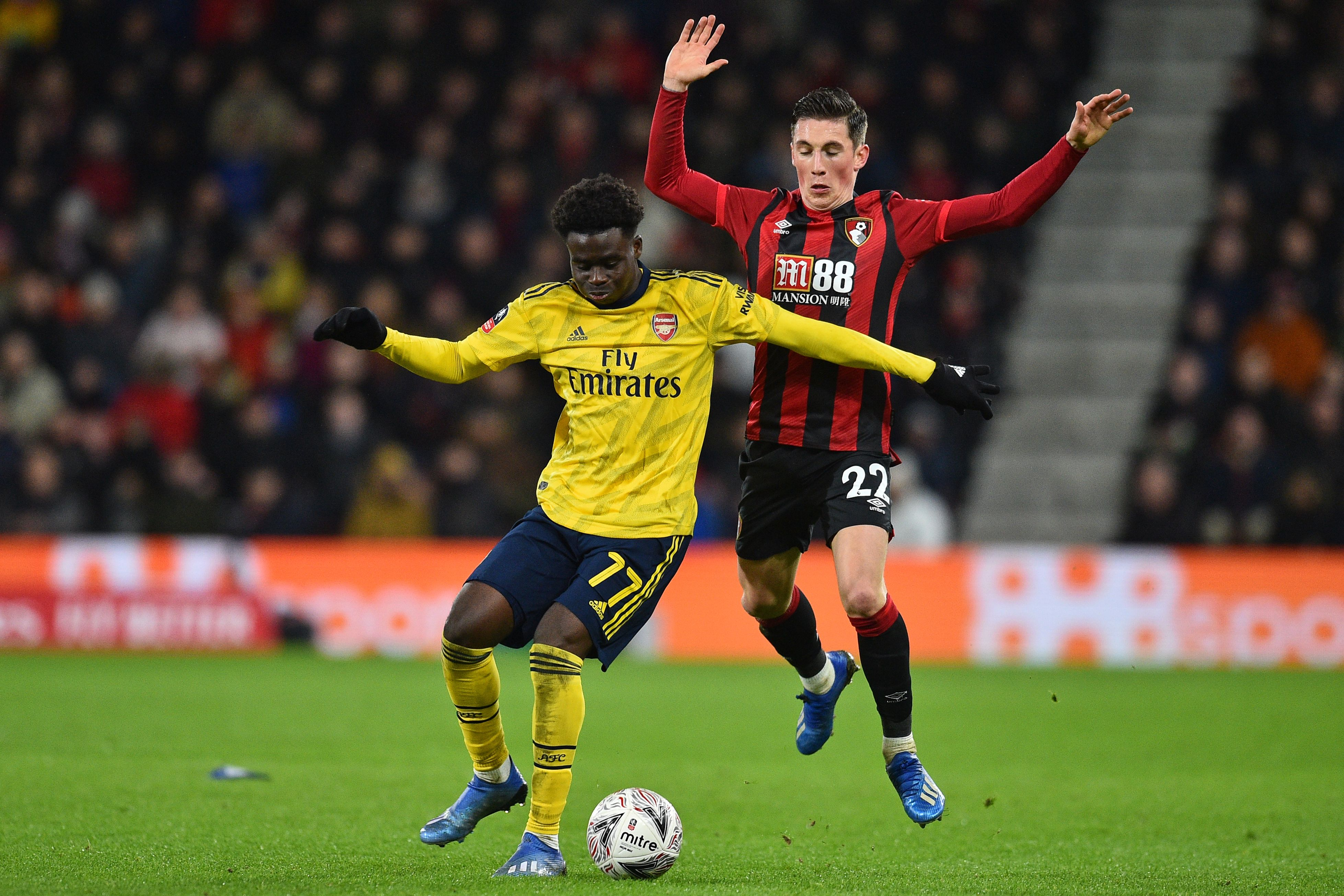 Bukayo Saka was the star of the show for Arsenal (Photo by GLYN KIRK/AFP via Getty Images)