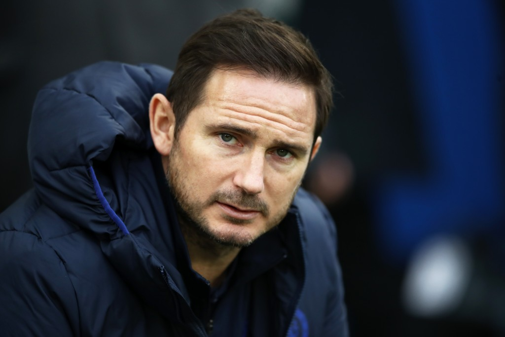 BRIGHTON, ENGLAND - JANUARY 01: Frank Lampard, Manager of Chelsea looks on prior to the Premier League match between Brighton & Hove Albion and Chelsea FC at American Express Community Stadium on January 01, 2020 in Brighton, United Kingdom. (Photo by Bryn Lennon/Getty Images)