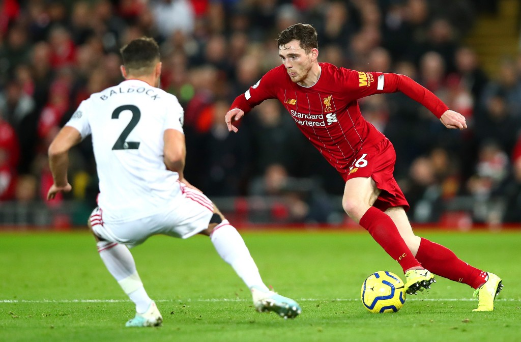 Robertson was on song against Sheffield United. (Photo by Clive Brunskill/Getty Images)