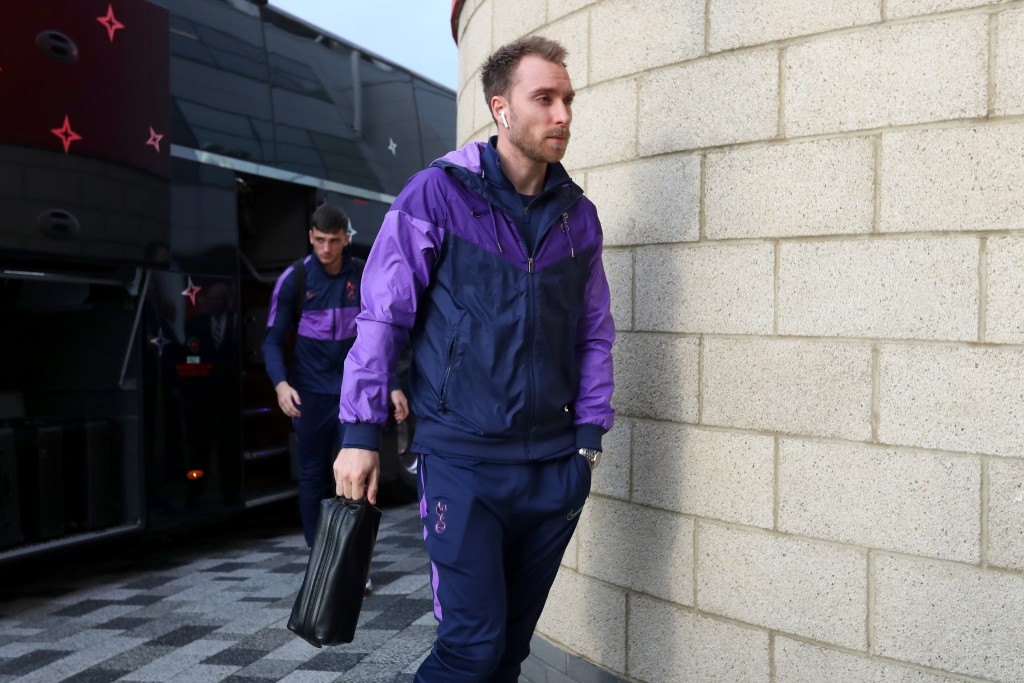 MIDDLESBROUGH, ENGLAND - JANUARY 05: Christian Eriksen of Tottenham Hotspur arrives at the stadium prior to the FA Cup Third Round match between Middlesbrough and Tottenham Hotspur at Riverside Stadium on January 05, 2020 in Middlesbrough, England. (Photo by Alex Livesey/Getty Images)