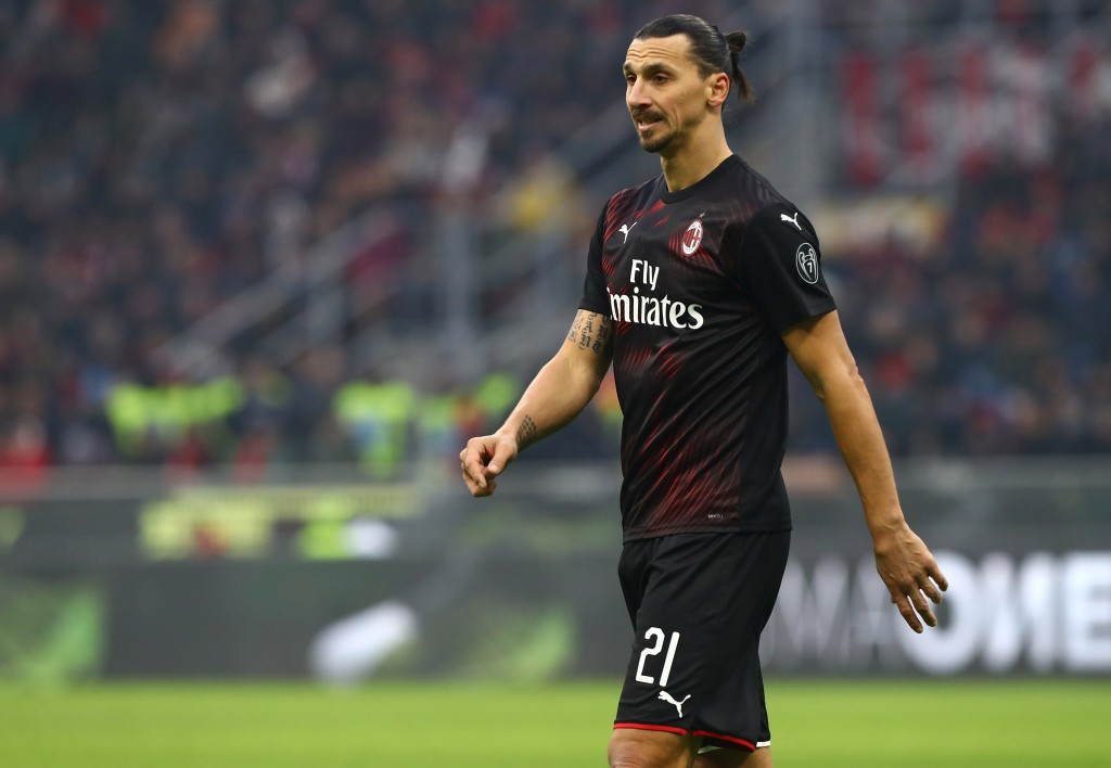 Zlatan Ibrahimovic scores in first start since AC Milan return