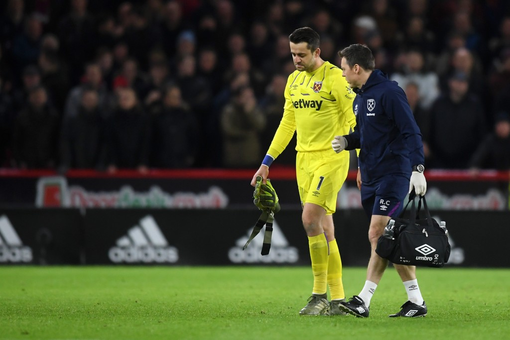 Lukasz Fabianski is inching closer to his return. (Photo by Michael Regan/Getty Images)