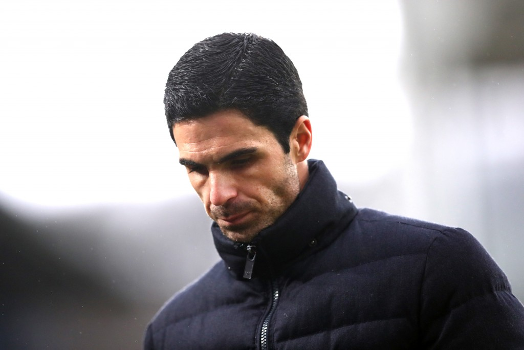 LONDON, ENGLAND - JANUARY 11: Mikel Arteta, Manager of Arsenal looks on after the Premier League match between Crystal Palace and Arsenal FC at Selhurst Park on January 11, 2020 in London, United Kingdom. (Photo by Dan Istitene/Getty Images)