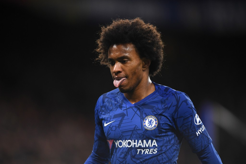 Willian scored the match winning penalty. (Photo by Mike Hewitt/Getty Images)