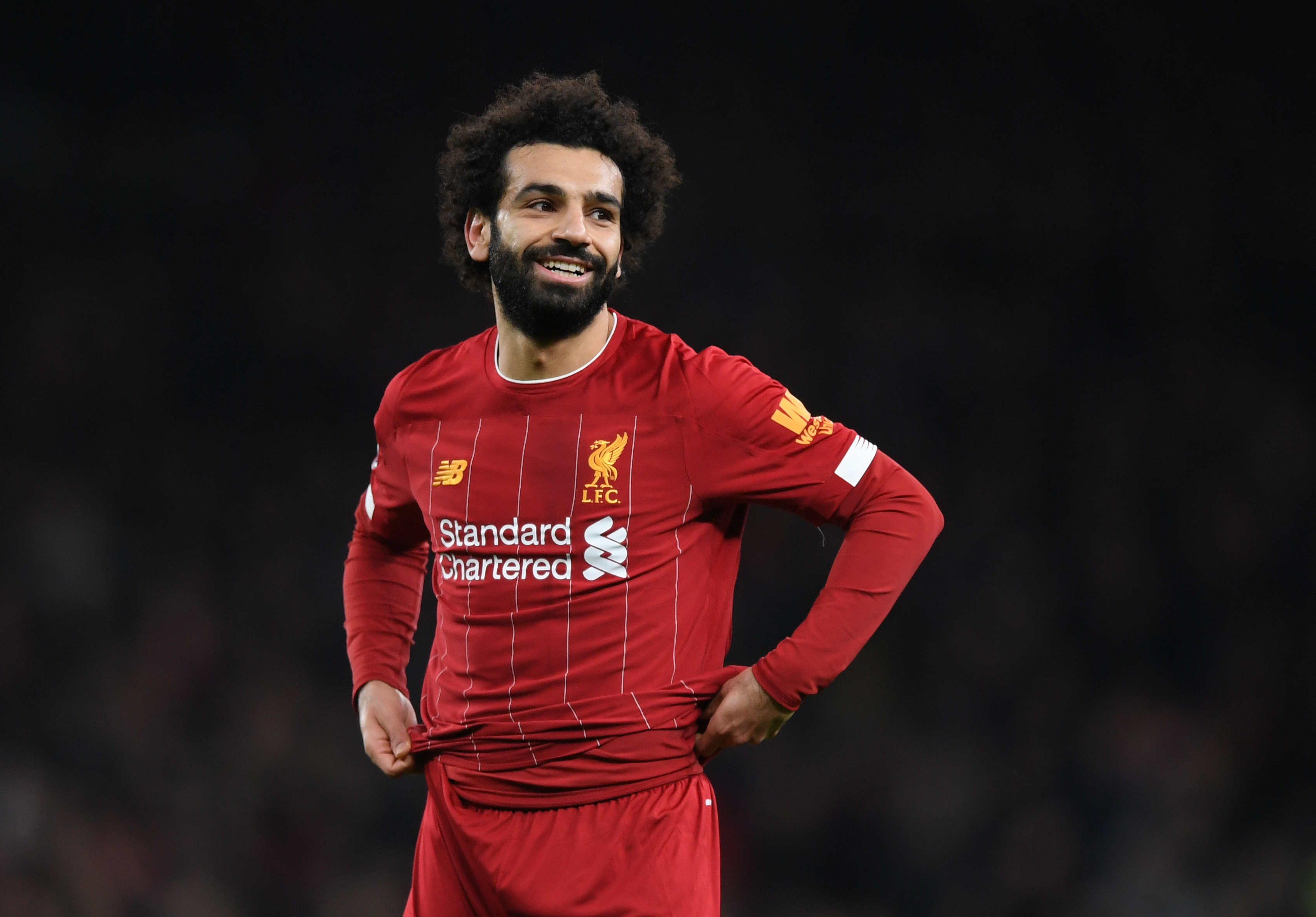 Salah is six goals shy from his 100th in a Liverpool shirt. (Photo by Shaun Botterill/Getty Images)