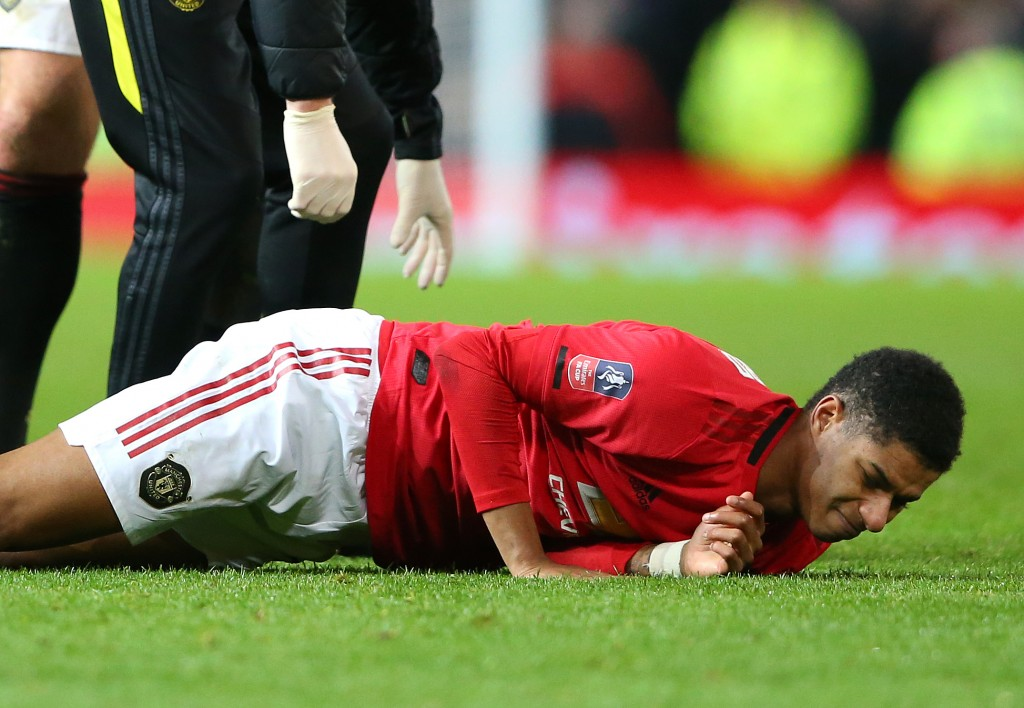 Marcus Rashford's injury-enforced absence has left Manchester United woefully short of goals. (Photo by Alex Livesey/Getty Images)
