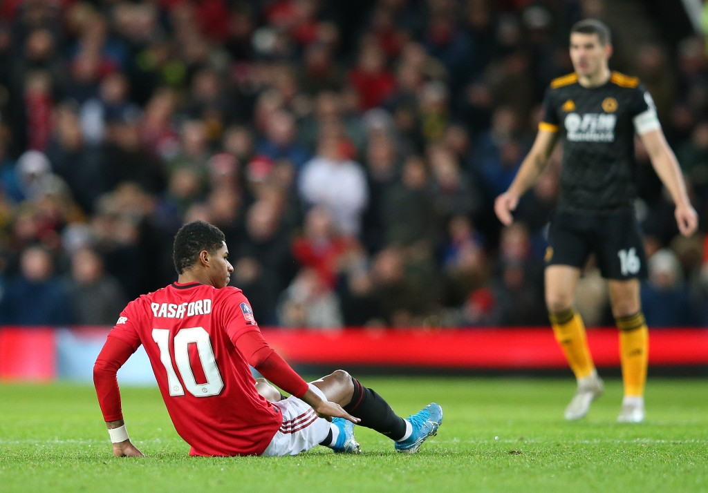 Marcus Rashford is out for the foreseeable future. (Photo by Alex Livesey/Getty Images)